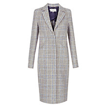 Buy Hobbs Lavana Coat, Grey/Blue Online at johnlewis.com