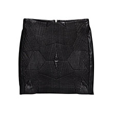 Buy Mango Stitched Skirt, Black Online at johnlewis.com