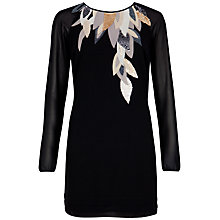 Buy Ted Baker Long Sleev Beaded Neckline Dress Online at johnlewis.com