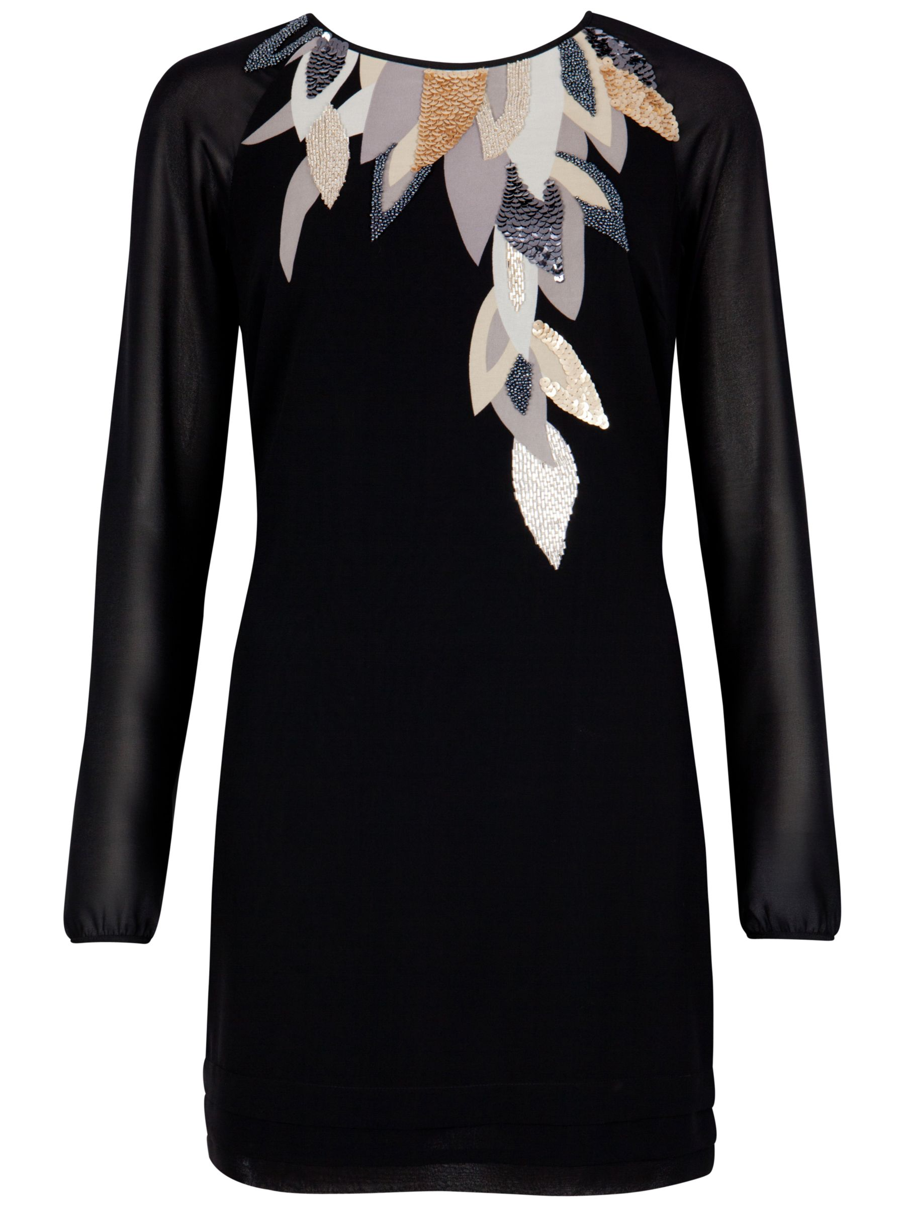 ted baker long sleeve beaded neckline dress, ted, baker, long, sleeve, beaded, neckline, dress, ted baker, black, clearance, womenswear offers, womens dresses offers, women, womens dresses, special offers, fashion magazine, womenswear, men, brands l-z, 1789338