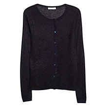 Buy Mango Leopard Print Cardigan, Navy Online at johnlewis.com
