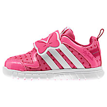 Buy Adidas Minnie Mouse & Ribbon Trainers, Pink/White Online at johnlewis.com