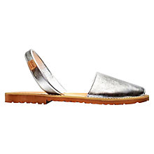 Buy Castell Madonna Nubuck Leather Sandals, Metallic Silver Online at johnlewis.com