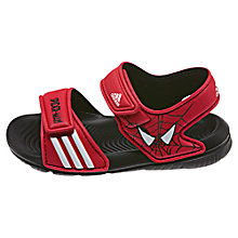 Buy Adidas Disney's Spider-Man Rip-Tape Sandals, Red/Black Online at johnlewis.com