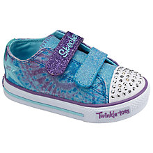 Buy Skechers Children's Twinkle Toes Sweet Steps Peace N Love Trainers, Turquoise Online at johnlewis.com