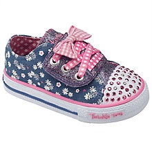Buy Skechers Twinkle Toes CC Shuffle Gingham Canvas Trainers Online at johnlewis.com