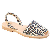 Buy Castell Madonna Leather Sandals, Leopard Print Online at johnlewis.com