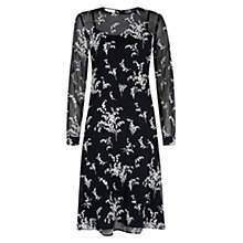 Buy Hobbs Lily Valley Dress, Navy Ivory Online at johnlewis.com