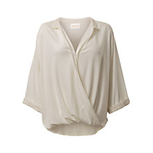 Buy East Blouson Embroidered Blouse, Pearl Online at johnlewis.com