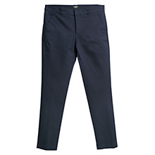 Buy Mango Slim Fit Cotton Blend Trousers, Natural White Online at johnlewis.com