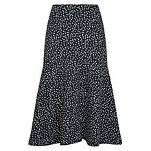 Buy Hobbs Nadene Skirt, Black/Ivory Online at johnlewis.com