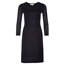 Buy Hobbs Nadene Dress, Navy Online at johnlewis.com