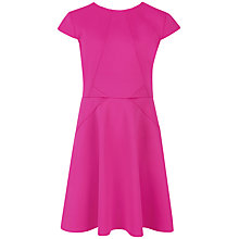 Buy Ted Baker Cap Sleeve Skater Dress, Pink Online at johnlewis.com