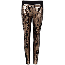 Buy Ted Baker Sequin Tapered Trousers, Bronze Online at johnlewis.com