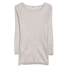Buy Mango Leopard Pattern Jumper, Natural White Online at johnlewis.com