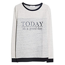 Buy Mango Message Sweatshirt, Medium Grey Online at johnlewis.com