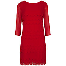 Buy Ted Baker Scallop Edge Silk Dress, Red Online at johnlewis.com