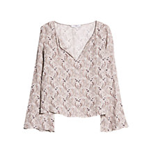 Buy Mango Boho Paisley Blouse, Natural White Online at johnlewis.com