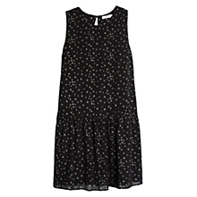 Buy Mango Star Print Dress, Black Online at johnlewis.com