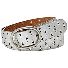 Buy Fossil Signature Perforated Leather Belt Online at johnlewis.com