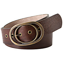 Buy Fossil Vintage Leather Oval Buckle Belt, Chocolate Online at johnlewis.com