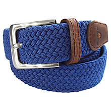 Buy Tyler & Tyler Woven Cotton and Leather Belt Online at johnlewis.com