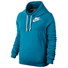 Buy Nike Women's Rally Funnel Pullover Hoodie, Blue Online at johnlewis.com