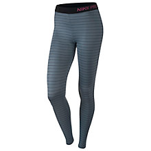 Buy Nike Pro Hyperwarm Stripe Running Tights Online at johnlewis.com