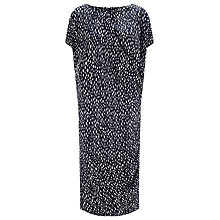 Buy John Lewis Capsule Collection Jersey Linen Dress, Navy Online at johnlewis.com