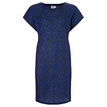 Buy Kin by John Lewis Linen Print Dress, Navy Online at johnlewis.com