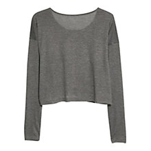 Buy Mango Long Sleeve T-Shirt, Medium Grey Online at johnlewis.com
