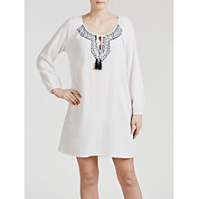 Buy John Lewis Embroidered Cotton Kaftan, White Online at johnlewis.com