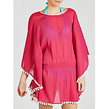 Buy John Lewis Pom Pom Trim Kaftan, Pink Online at johnlewis.com