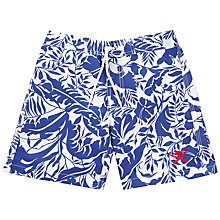 Buy Hackett London Boys' Flower Swim Shorts, Bright Blue Online at johnlewis.com