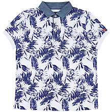 Buy Hackett London Boy's Hibiscus Print Polo Shirt, Blue/White Online at johnlewis.com