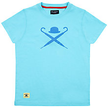 Buy Hackett London Boys' Logo T-Shirt, Turquoise Online at johnlewis.com