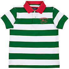 Buy Hackett London Boys' Block Stripe Polo Top, Green Online at johnlewis.com
