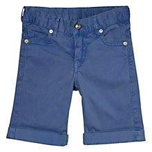 Buy Hackett London Boys' Turn-Up Shorts, Light Blue Online at johnlewis.com