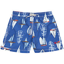 Buy Hackett London Boys' Sailing Swim Shorts, Blue Online at johnlewis.com
