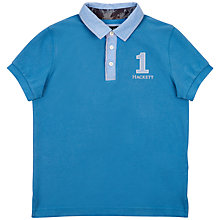 Buy Hackett London Boys' Surf Chambray Polo Shirt, Light Blue Online at johnlewis.com