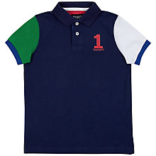 Buy Hackett London Boys' Contrast Polo Shirt, Blue/Multi Online at johnlewis.com