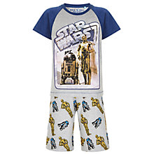 Buy Star Wars Children's C-3PO & R2-D2 Pyjamas, Grey/Blue Online at johnlewis.com