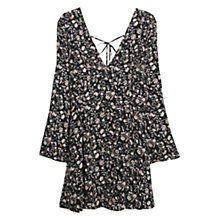 Buy Mango Floral Boho Dress, Black Online at johnlewis.com