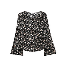 Buy Mango Printed Boho Blouse, Black Online at johnlewis.com