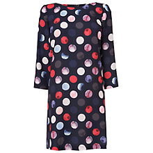 Buy Phase Eight Heidi Spot Print Dress, Navy/Coral Online at johnlewis.com