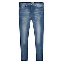Buy Mango Girlfriend Lonny Jeans, Medium Blue Online at johnlewis.com