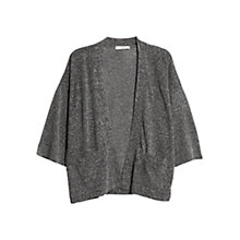 Buy Mango Metallic Cardigan, Dark Grey Online at johnlewis.com