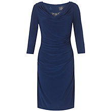 Buy Adrianna Papell Beaded Cowl Cocktail Dress, Ink Online at johnlewis.com