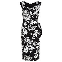 Buy Kaliko Mono Printed Dress, Black/White Online at johnlewis.com