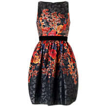 Buy Adrianna Papell Floral Cocktail Dress, Black/Multi Online at johnlewis.com